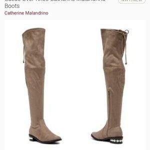 Catherine malandrino suede boots size 7